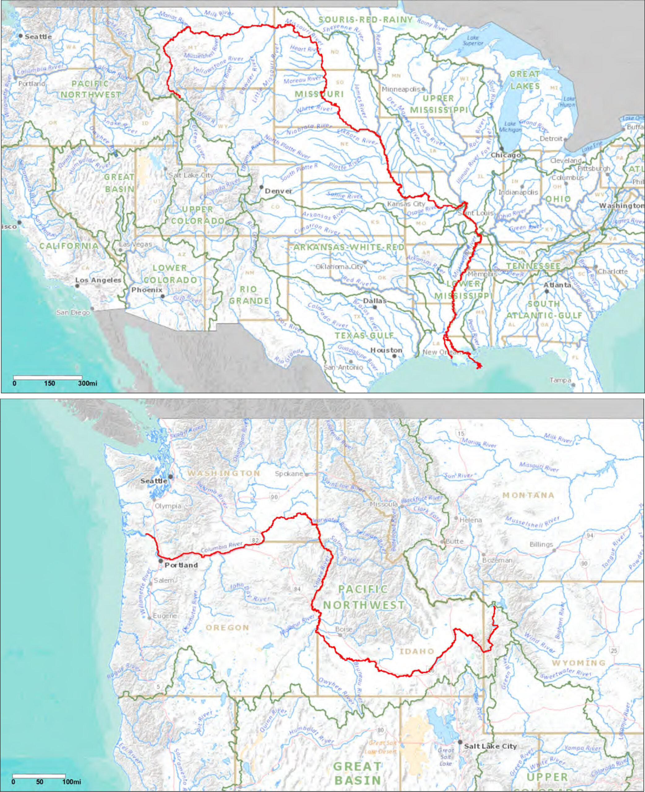 The long journey of water from Yellowstone geysers to the ocean